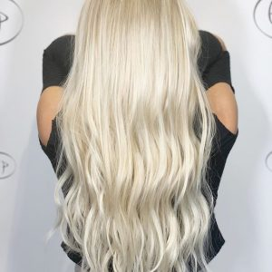 Platinum blonde color processing